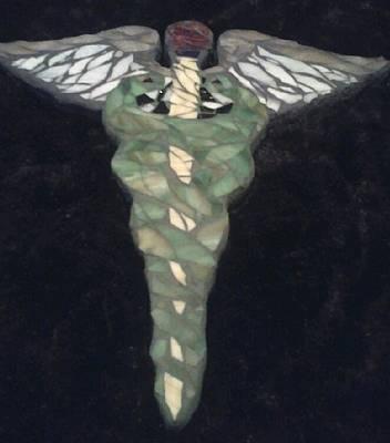 Medical Caduceus  Art Print by Lisa Collinsworth