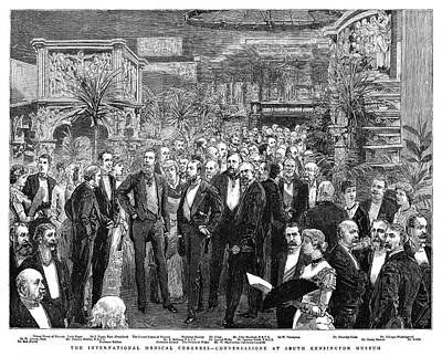 Upper Classes Painting - Medical Congress, 1881 by Granger