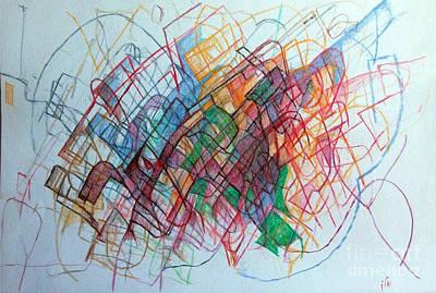 Creativity Drawing - Medicine 1 by David Baruch Wolk