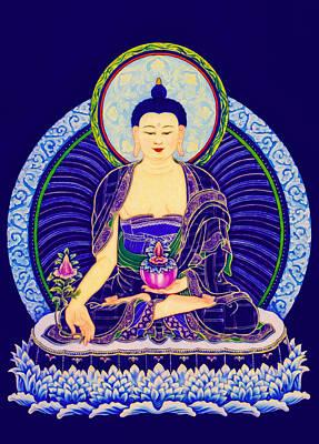 Medicine Buddha 6 Art Print by Lanjee Chee