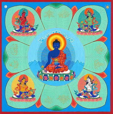 Buddhist Painting - Medicine Buddha by Ies Walker
