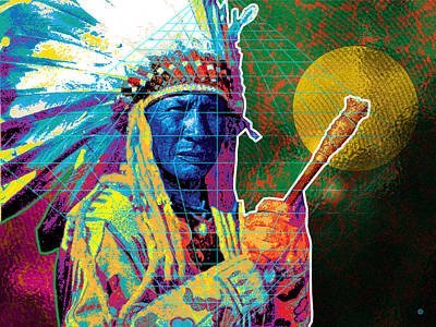 Medicine Man Art Print by Gary Grayson