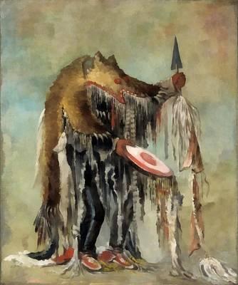 Western Art Digital Art - Medicine Man by George Catlin