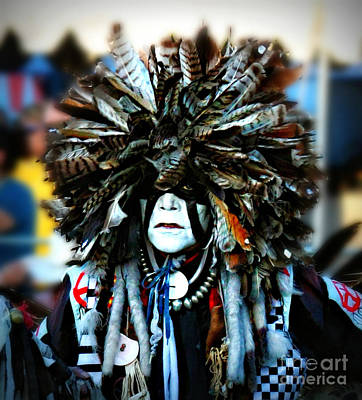 Medicine Man Headdress Art Print by Scarlett Images Photography