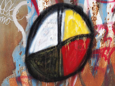 Medicine Wheel Graffiti Art Print