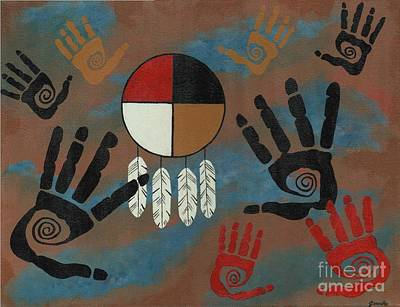 Painting - Medicine Wheel Healing by Jean Fry