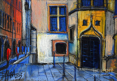 Medieval Architecture In Vieux Lyon France Original by Mona Edulesco