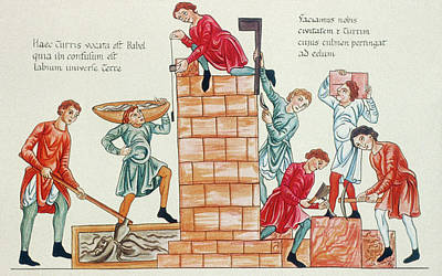 Change Painting - Medieval Artisans, 12th Century by Granger