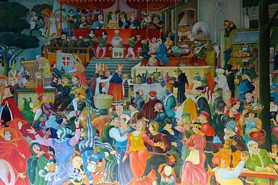Medieval Banquet Art Print by Mountain Dreams