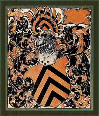 Digital Art - Medieval Belgian Coat Of Arms  by Serge Averbukh