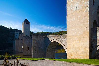 Medieval Bridge Across A River, Pont Art Print by Panoramic Images