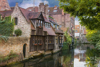 Historic Home Photograph - Medieval Bruges by Juli Scalzi