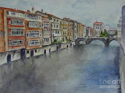 Medieval Canal Art Print by Sobeida Salomon