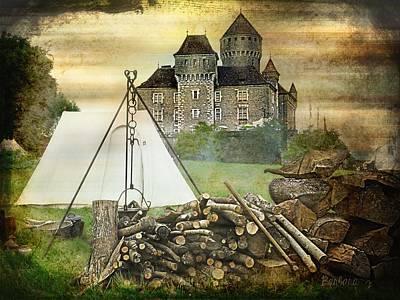 Medieval Castle Of Montrottier - France Art Print by Barbara Orenya