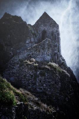 Creepy Rock Photograph - Medieval Chapel by Joana Kruse