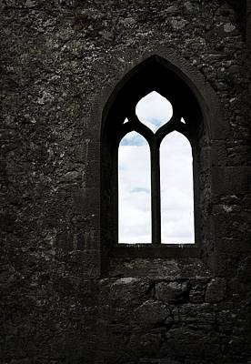Photograph - Medieval Chapel Window by Nadalyn Larsen