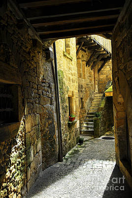Medieval Entrance Photograph - Medieval Courtyard by Elena Elisseeva