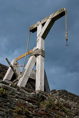 Pulley Photograph - Medieval Crane by Mark Williamson