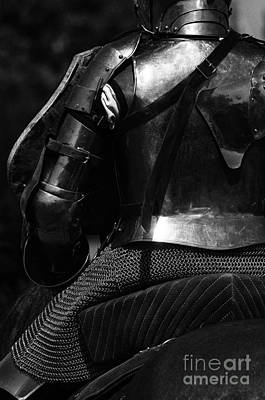 Knight In Shining Armour Photograph - Medieval Dark Knight by Bob Christopher