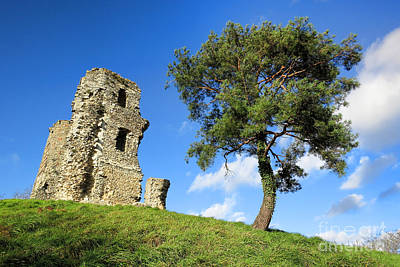 Medieval Hill Art Print by Olivier Le Queinec