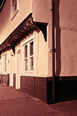 Streetlight Photograph - Medieval Houses by Tom Gowanlock
