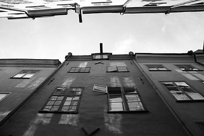 Medieval Houses With Open Window - Monochrome Art Print by Ulrich Kunst And Bettina Scheidulin