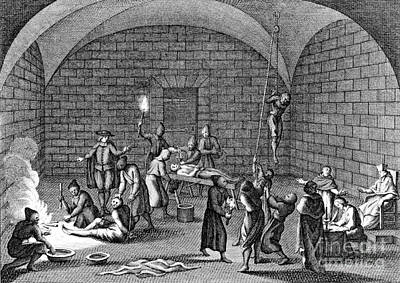 Torment Photograph - Medieval Inquisition Torture Chamber by Photo Researchers