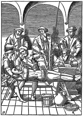 Photograph - Medieval Inquisition Water Torture by Photo Researchers