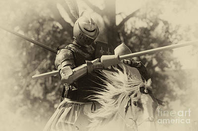 Knight In Shining Armour Photograph - Medieval Jousting by Bob Christopher