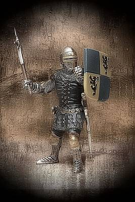 Mixed Media - Medieval Knight by Aaron Berg