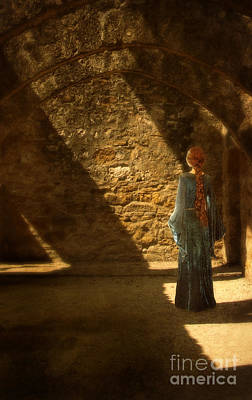 Dungeon Photograph - Medieval Lady In Stone Room by Jill Battaglia