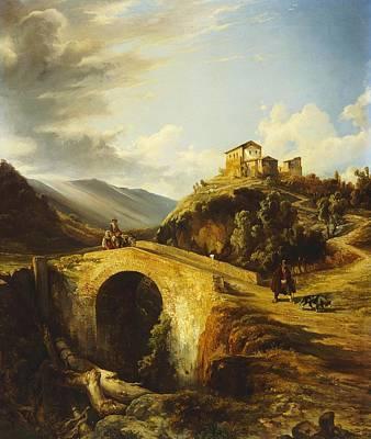 Medieval Landscape Art Print
