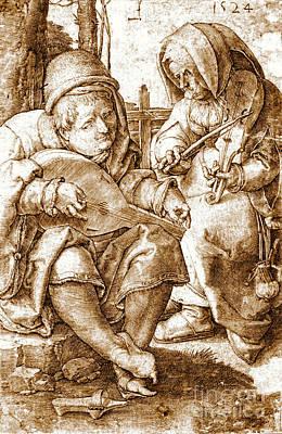 Medieval Musicians 1524 Art Print