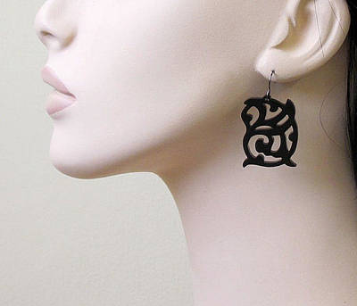 Laser Cut Jewelry Jewelry - Medieval Ornament Design Earrings by Rony Bank