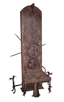 Punishment Photograph - Medieval Rotating Torture Chair by David Parker