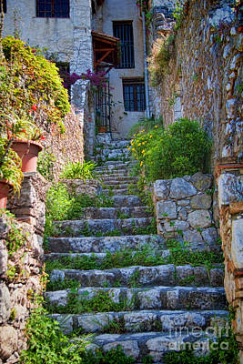 Medieval Saint Paul De Vence 1 Art Print by David Smith