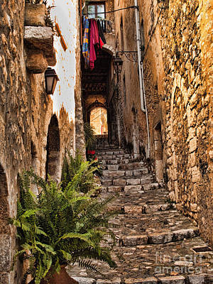 Medieval Saint Paul De Vence 2 Art Print by David Smith