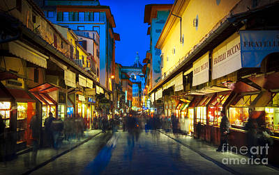 Photograph - Medieval Street Florence by Lilianna Sokolowska