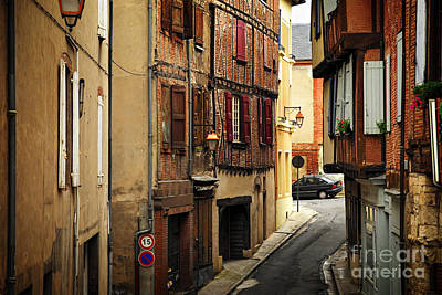Medieval Street In Albi France Art Print by Elena Elisseeva