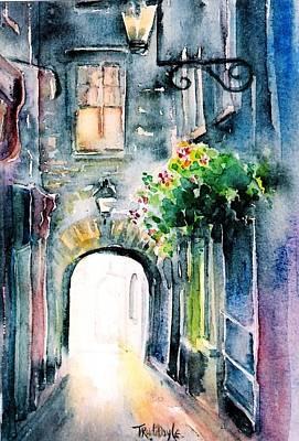 The Butter Slip  Medieval Street Kilkenny I Art Print
