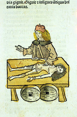 Anatomist Photograph - Medieval Surgery by National Library Of Medicine