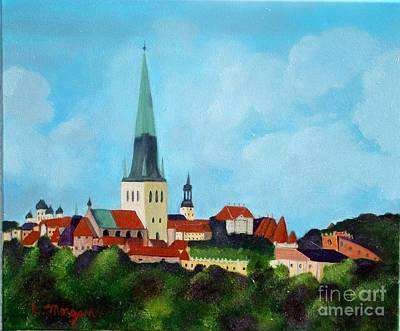 Painting - Medieval Tallinn by Laurie Morgan