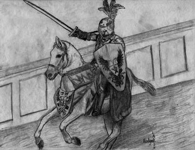 Camelot Drawing - Medieval Times by Rodger Larson