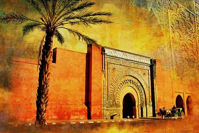 Share Painting - Medina Of Marakkesh by Catf