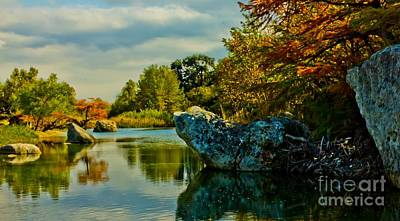 Medina Lake Photograph - Medina River Dreamscape by Michael Tidwell