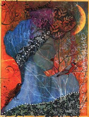 2012 Mixed Media - Meditate Day And Night by Nancy TeWinkel Lauren