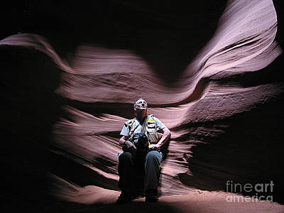 Photograph - Meditating In Antelope Slot Canyon Arizona by Merton Allen
