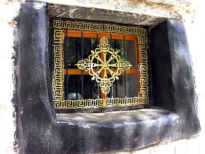 Photograph - Meditation Art - Tibet - Lhasa - Window by Jacqueline M Lewis