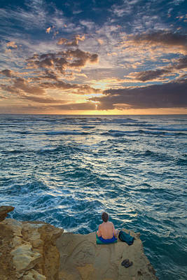Mahaulepu Beach Photograph - Meditation At Sunrise by Roger Mullenhour
