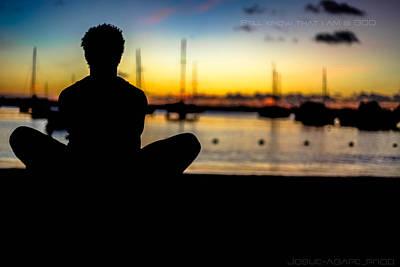 Meditation At Sunset View Art Print by Serenity Art